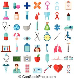 Medical Icon - vector illustration of complete set of...