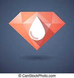 Diamond icon with a drop