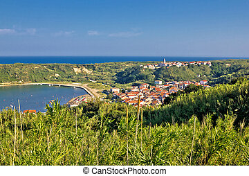 Island of Susak village and nature view, Kvarner, Croatia