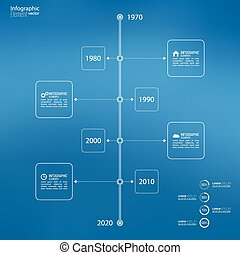 Timeline Infographic with arrows and pointers. - Timeline...