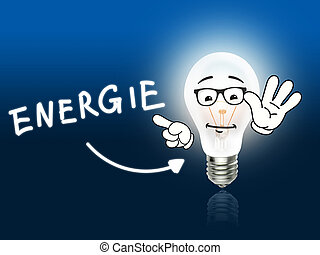 Energie Bulb Lamp Energy Light blue Idea Background
