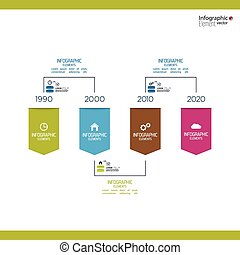 Timeline Infographic with arrows and pointers. for...