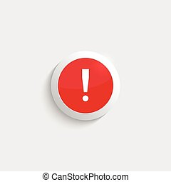 Exclamation mark icon Attention sign icon Hazard warning...