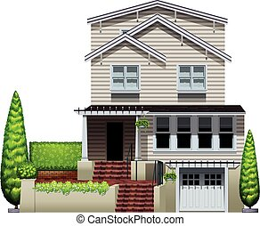 House - Illustration of a beautiful house