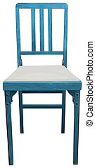 Chair - Illustration of a close up blue chair