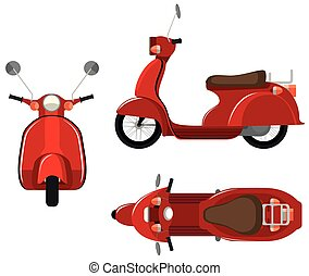 Scooter - Illustration of a close up scooter with different...