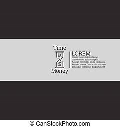 Time is money, money concept Label with text and a dollar...