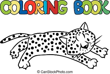Coloring book of little cheetah - Coloring book or coloring...