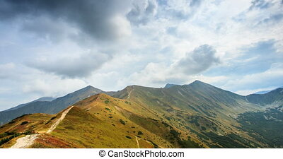 Storm over the mountains - Storm over the Tatras mountains,...
