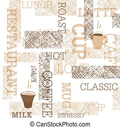 Coffee Themed Seamless Pattern