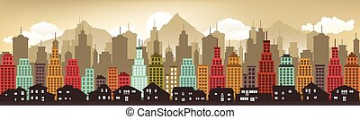 Cityscape in the evening