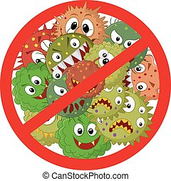 Stop virus - Vector illustration of Stop virus
