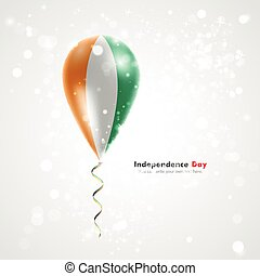 Flag of Cote Divoire on balloon. Celebration and gifts....