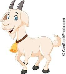 Cute cartoon goat - Vector illustration of Cute cartoon goat
