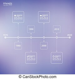 Timeline Infographic with arrows and pointers - Timeline...