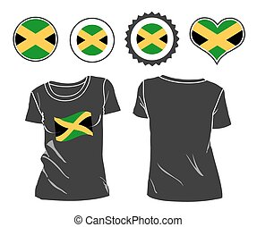 Jamaican T-Shirt. t-shirt with the flag of Jamaica