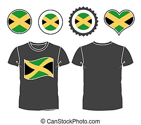 Jamaican T-Shirt t-shirt with the flag of Jamaica