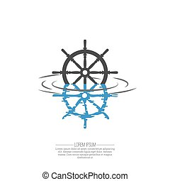 Business Abstract wheel ship icon. Corporate, Media,...