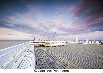 The longest wooden pier in Europe, Sopot, Poland