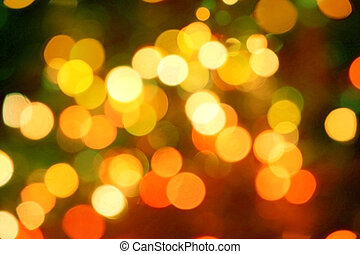 Red and orange holiday bokeh Abstract Christmas background