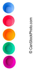 Silicone Cupcake Baking Cups - Various colors of silicone...