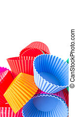 Cupcake Silicone Baking Cups - Various color cupcake...