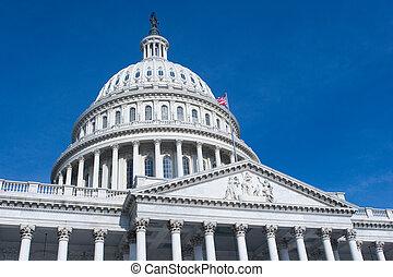 nosotros, capitolio, edificio, Washington, CC
