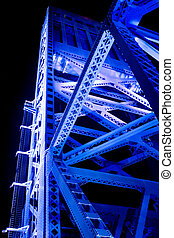 Blue Bridge Span - Main Street Bridge Span in Jacksonville,...