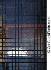 Abstract lattice window - A window with lots of smaller...