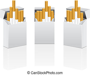 Vector pack of cigarettes