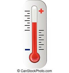termometro, vettore