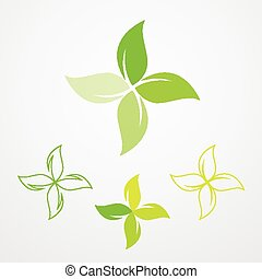 Natural products pharmacy symbol collection - Natural...