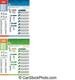 Website vector template