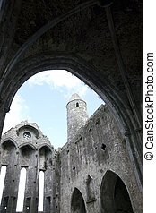 rock of cashel church arches - the church at historic rock...