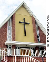 St Jacobs Village Mennonite Church facade 2013 - Facade of...