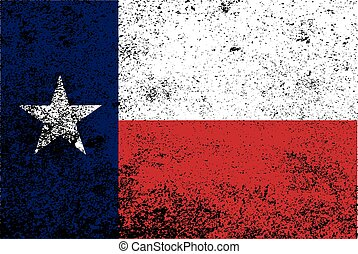 Texas State Flag Grunge - The flag of the USA state of TEXAS...