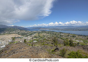 Overlooking the City of Kelowna from a Mountain Top
