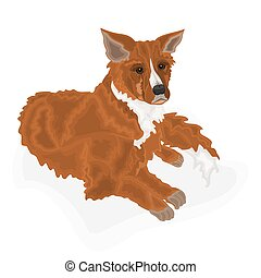 Lying dog domestic animal vector
