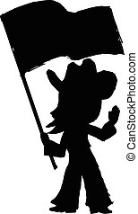 cowgirl - black silhouette of cowgirl