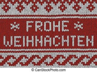 Norwegian pattern - Frohe Weihnachten - Christmas Vector