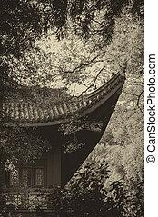 Lingyin - Buildings in Lingyin Temple, Hangzhou, Shandong...