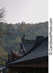Lingyin - Buildings in Lingyin Temple, Hangzhou, Shandong...