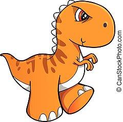 Tough Dinosaur Vector Illustration