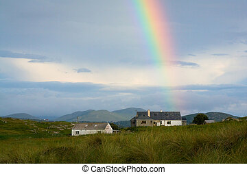 Donegal, Ireland. - Rainbow in the countryside of Donegal,...