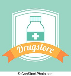 drugstore bottle design, vector illustration eps10 graphic