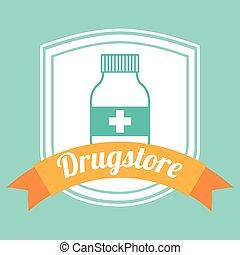 drugstore bottle design, vector illustration eps10 graphic