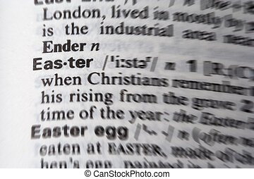 復活節, 詞