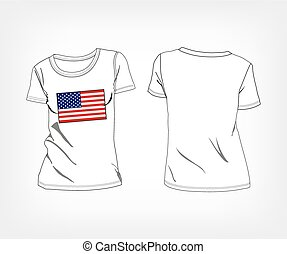 USA flag t-shirt United States of America, t-shirt with the...