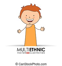 multi ethnic design, vector illustration eps10 graphic
