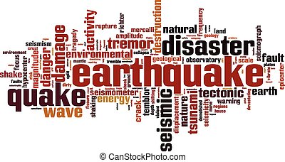 Earthquake word cloud concept Vector illustration